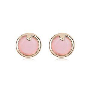 Alloy  Elegant round opal earrings  Light  8614