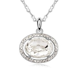Austrian imitated crystal necklace - Ends of the Earth ( White ) 8583