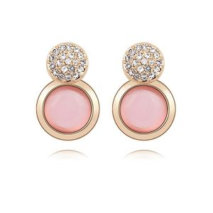Alloy - Elegant ball opal earrings ( Light ) 8541
