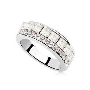 Austrian Imitated crystal Ring - Life with you ( White ) 8363