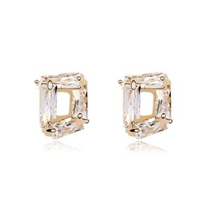 Alloy  Happiness met zircon earrings  White  8353