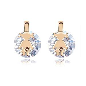 Alloy - Starlight Girls zircon earrings ( White ) 8223