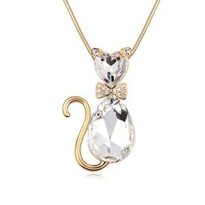 Alloy  Nice cat boutique sweater chain  White  8197