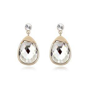 Alloy - Dudu gourd boutique earrings ( White ) 8152