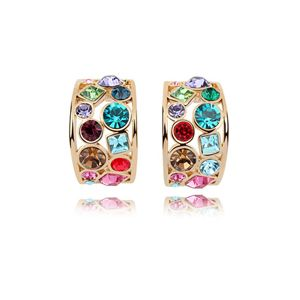 Austrian imitated crystal earrings - Beautiful time ( Color + Champagne Alloy ) 7488