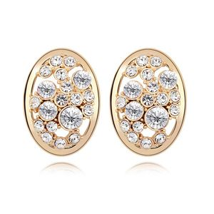 Austrian imitated crystal earrings - Star fairy tale ( White + Champagne Alloy ) 7190