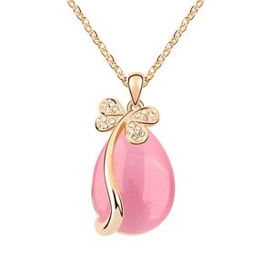 Alloy - Butterfly Tears opal necklace ( Light + Champagne Alloy ) 7095