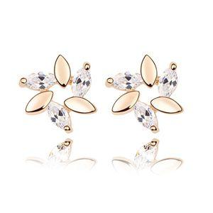 Alloy - Lilac zircon earrings ( White ) 7024