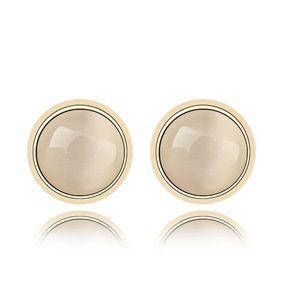 Alloy - Opal earrings ( White ) 6999