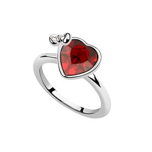 Austrian Imitated crystal Ring  Angel Heart  Red  6962