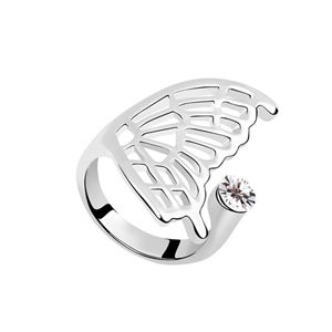 Austrian Imitated crystal Ring - Butterfly ( White ) 6907