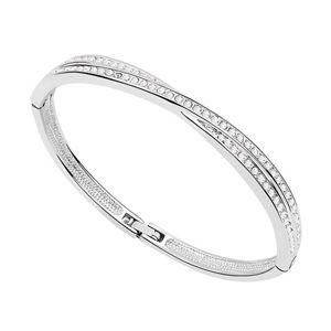 Austrian imitated crystal bracelet  Winter Sonata  White  6827