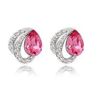 Austrian imitated crystal earrings - Yuen Butterfly ( Rose ) 6746