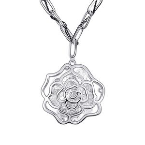 Retro fashion - Rose flower long sweater chain ( White ) 6658