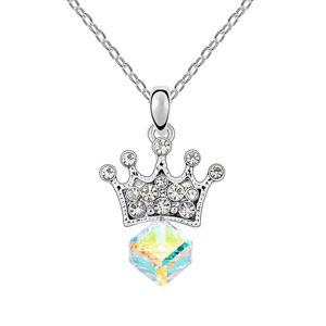 Austrian imitated crystal necklace - Princess Lover ( Color White ) 6602