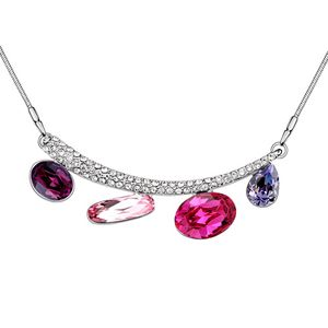Austrian imitated crystal necklace  I love love  Tanzanite  6564