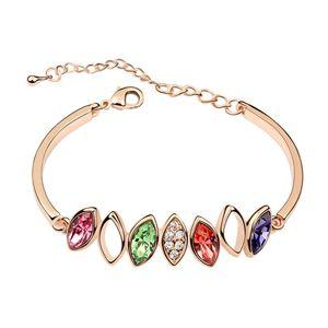 Austrian imitated crystal bracelet - Bana ( Color + Rose Alloy ) 6337