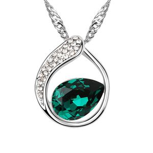Austrian imitated crystal necklace - Looking back sweet ( Green ) 6309