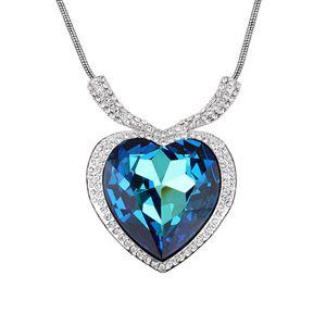 Austrian imitated crystal necklace  Heart of Ocean  Bluray  6259