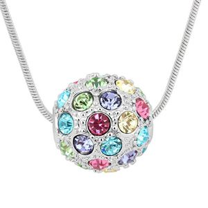 Imitated crystal Necklace  Colorful ball  Color  5924