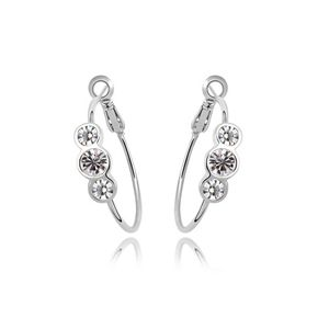 Imitated crystal Earrings - Happiness go hand in hand ( White ) 5916