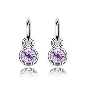 Austrian imitated crystal earrings  Meng Yuan  Violet  5845