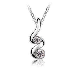 Imitated crystal Necklace - Bud ( White ) 5391