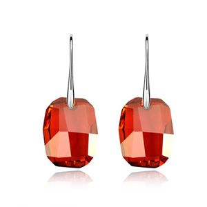 Austrian imitated crystal earrings - Magic clever dream ( Imitated crystal Red Rock ) 5318