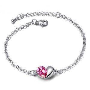 Austrian imitated crystal bracelet - Secret language of love ( Rose ) 4947