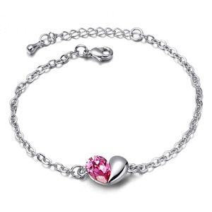 Austrian imitated crystal bracelet - Secret language of love ( Rose ) 4947