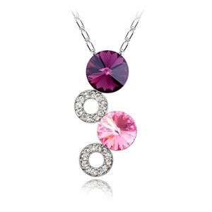 Austrian imitated crystal necklace - Romantic about ( Purple ) 4888
