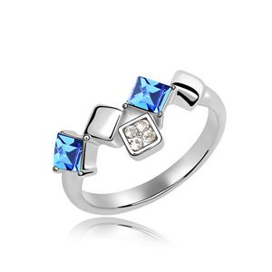 Austrian Imitated crystal Ring  Jing Li  Blue  4694