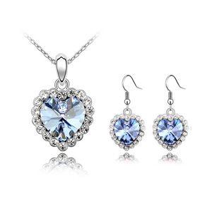 Austrian Imitated crystal Set - Love life ( Light Blue ) 4629