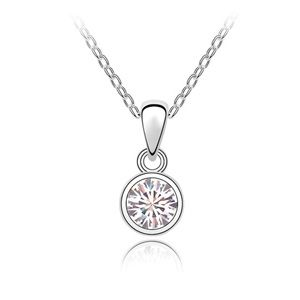 Austrian imitated crystal necklace - The true meaning of truth ( White ) 4406