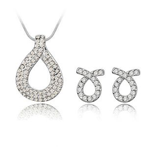 Imitated crystal Set - Love knot ( White ) 4312
