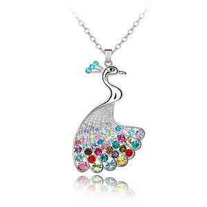Austrian imitated crystal sweater chain - Peacock Princess ( Color ) 3976