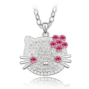 Imported imitated crystal sweater chain - Cute KT cat ( Rose ) 3284