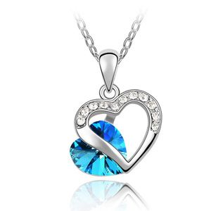 Austrian imitated crystal necklace - Heart about ( Blu-ray ) 3253