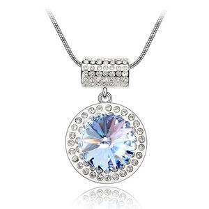 Austrian imitated crystal necklace - Starry Mood ( Light Blue ) 3039