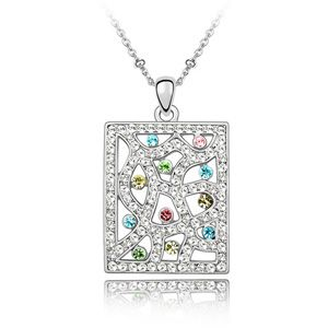 Austrian imitated crystal necklace  South window according to people  Color  2927