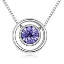Austrian imitated crystal necklace  Something Astral  Violet  11602