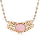 Alloy  Month Long Bay opal sweater chain  Light + Champagne Alloy  11441