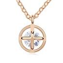 Alloy  Happiness prayer necklace zircon  White  11207