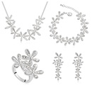 Austrian Imitated crystal Set  Smile blossoming  White  11183