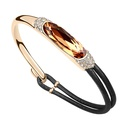 Austrian imitated crystal bracelet  Mrs Shexiang  Yellow imitated crystal + Champagne Alloy  10505