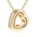 Austrian imitated crystal necklace  Eternal love  18K alloy  10476