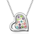 Austrian imitated crystal necklace  Two hearts with promise  Color  10264