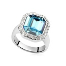 Austrian Imitated crystal Ring  Rhine River  White  9218