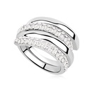 Austrian Imitated crystal Ring  Happiness buckle  White  8925