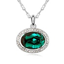 Austrian imitated crystal necklace  Ends of the Earth  White  8583